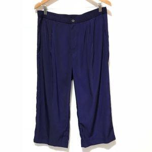 J Crew Pants Size 10 Wide Capri Casual Office Dark